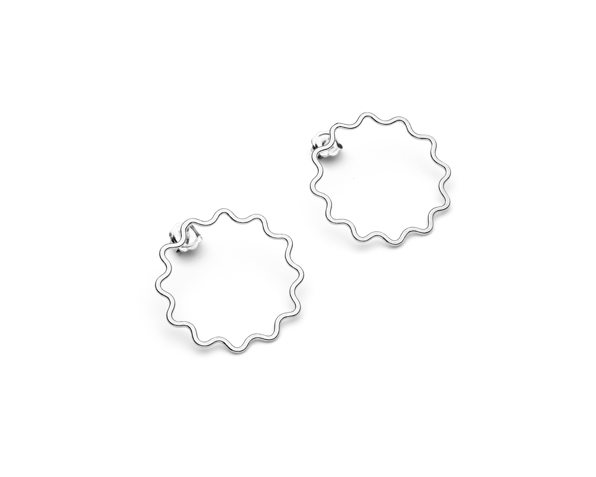 Ripple earrings small silver by Heather Woof Jewellery.jpg