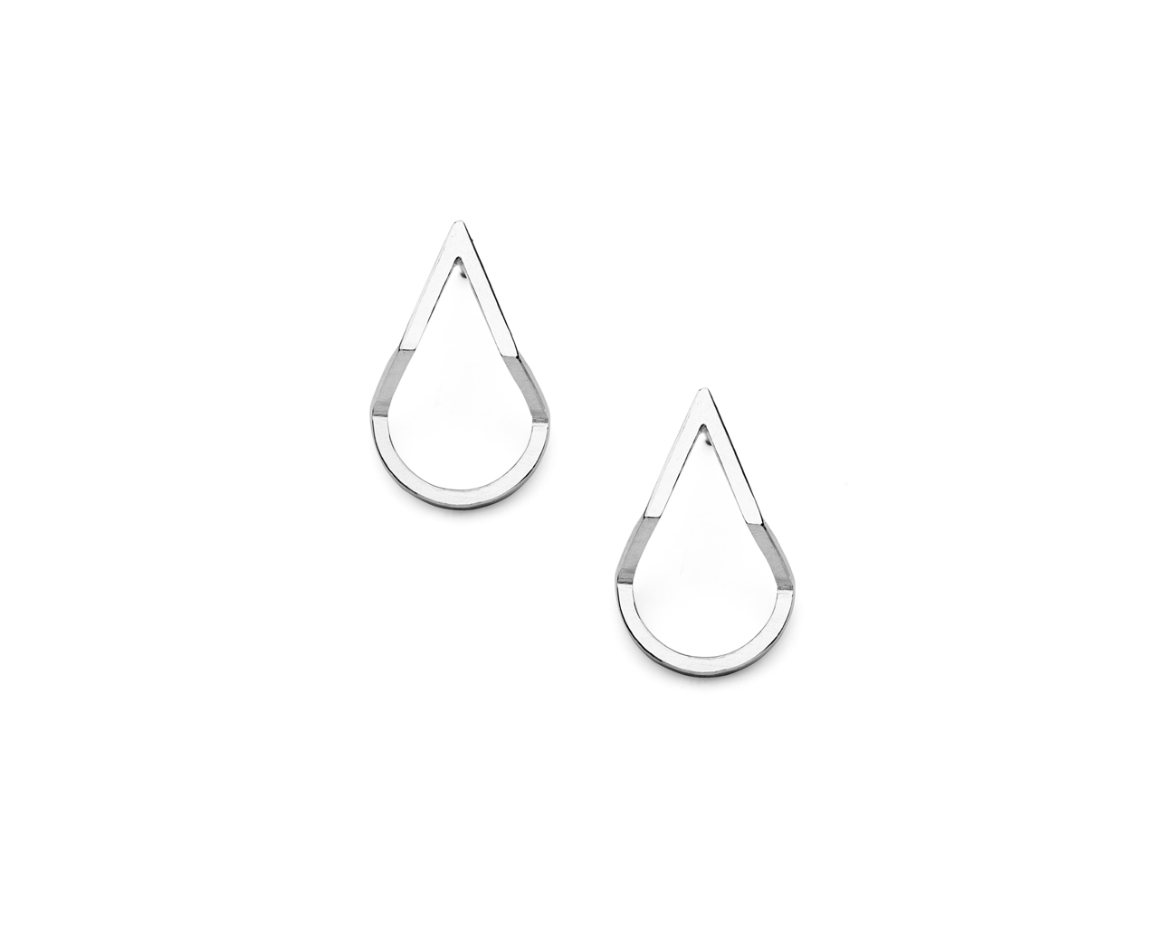 Teardrop earrings in silver by Heather Woof Jewellery.jpg