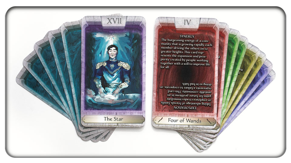 The fully-illustrated Major Arcana with art to interpret, and the text-based Minor Arcana for easy reading!