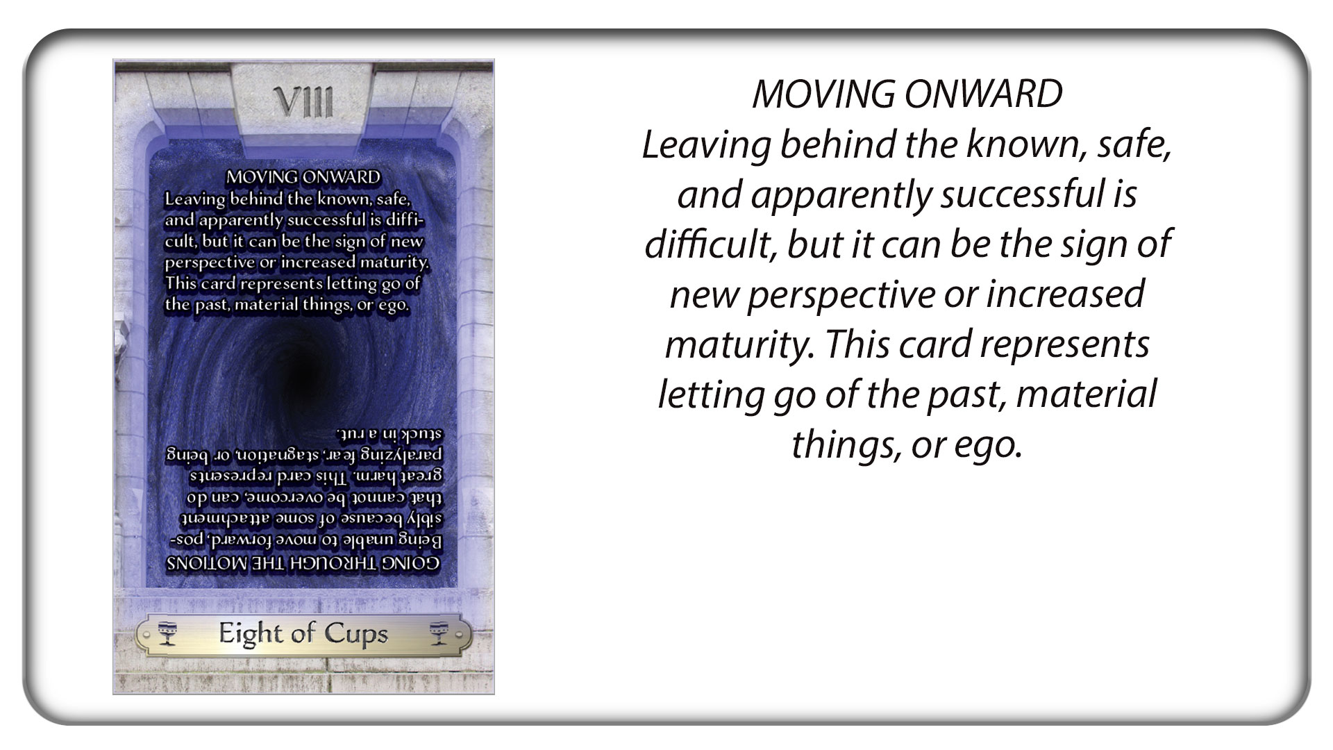 The Eight of Cups: Moving Onward