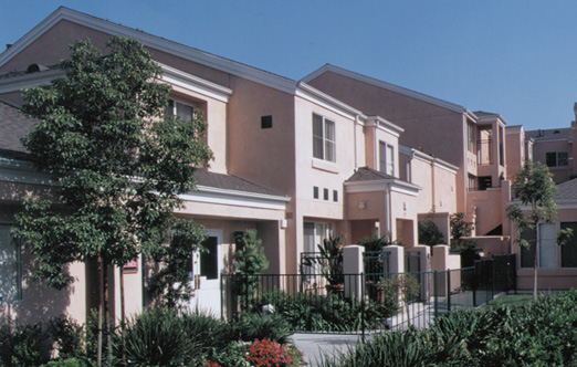 Vinas la Campana, Bell Gardens, CA  Residential: 126-units, 2 & 3 story attached Townhouses &Condominiumsabove parking,6-plans, 600 -1,200-sf.