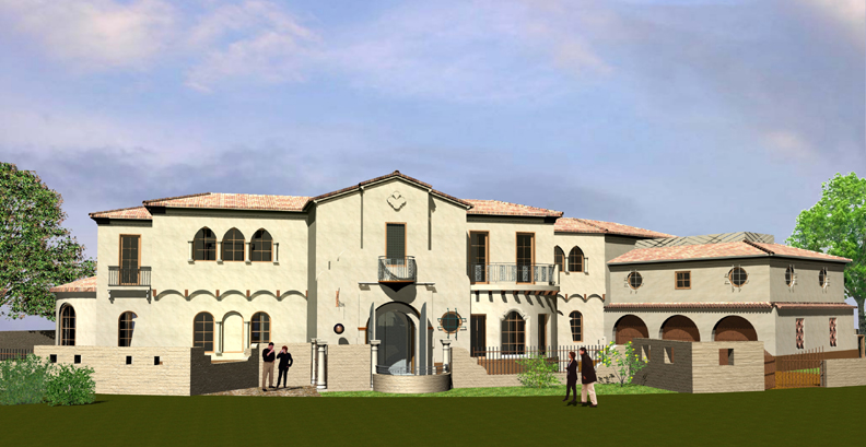 Tedmori SummerHouse, Newport Beach, CA  (a collaboration with Karim Sijlamassi)  Residential: 2-story, 8,700-sf. custom home, with central court, terraces and Mediterranean elements.   Status: Plan-check review processing & Bidding-phase. Construction scheduled to commence 2016.