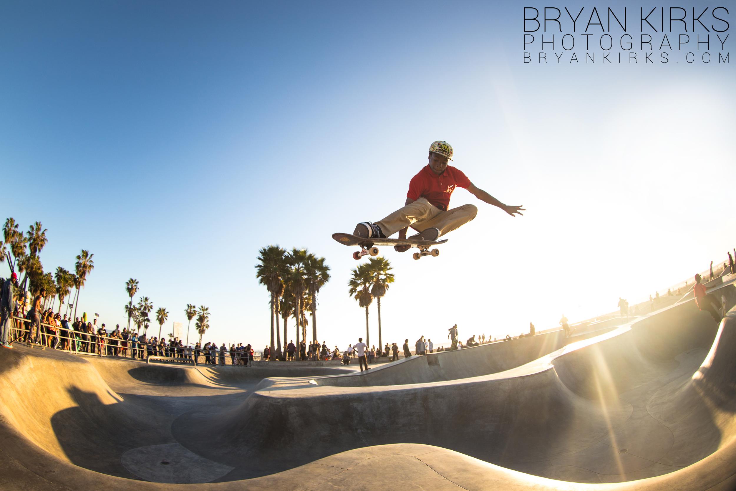 Skater at the Venice Beach Skatepark in Venice, California