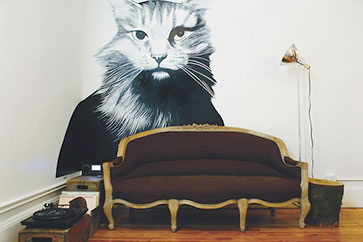 Larry Mural, Ace Hotel, Portland, Oregon, Room 420