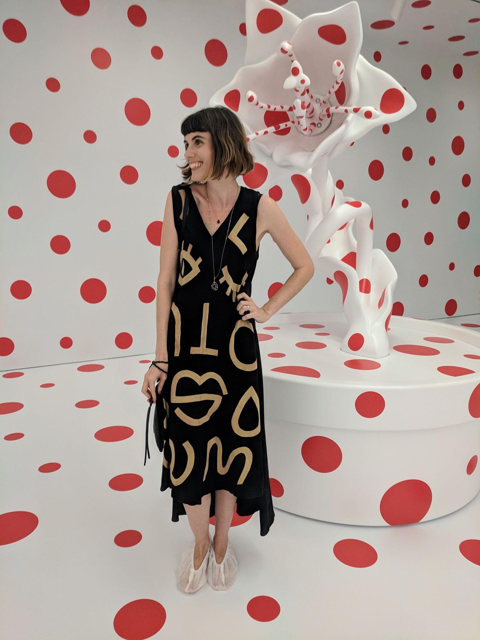 Jen Siems at Yayoi Kusama installation