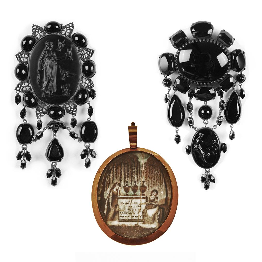 Photo credit: Detlef Thomas. Hair jewelry pendant. Photo: Missouri History Museum via  Interweave