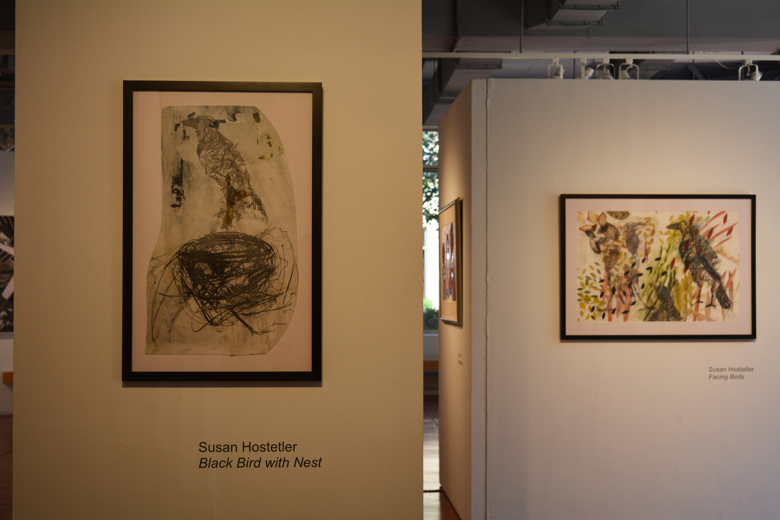 Greater Reston Arts Center, works on mylar with graphite, gouache, mixed media