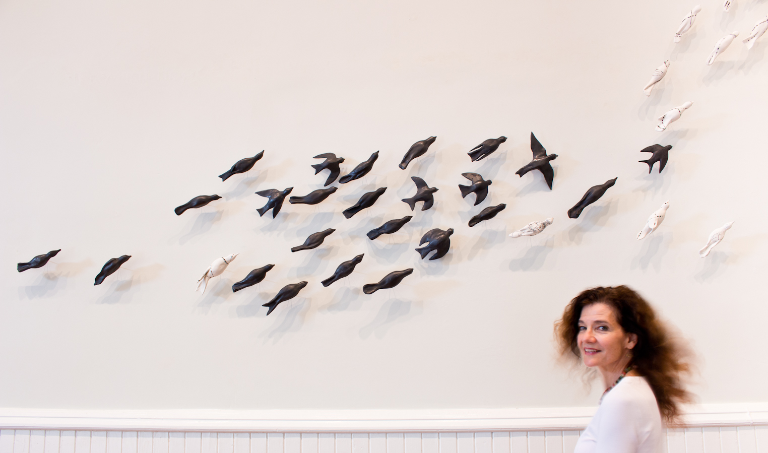 Murmurations 3, installation at the Athenaeum, Alexandria, VA