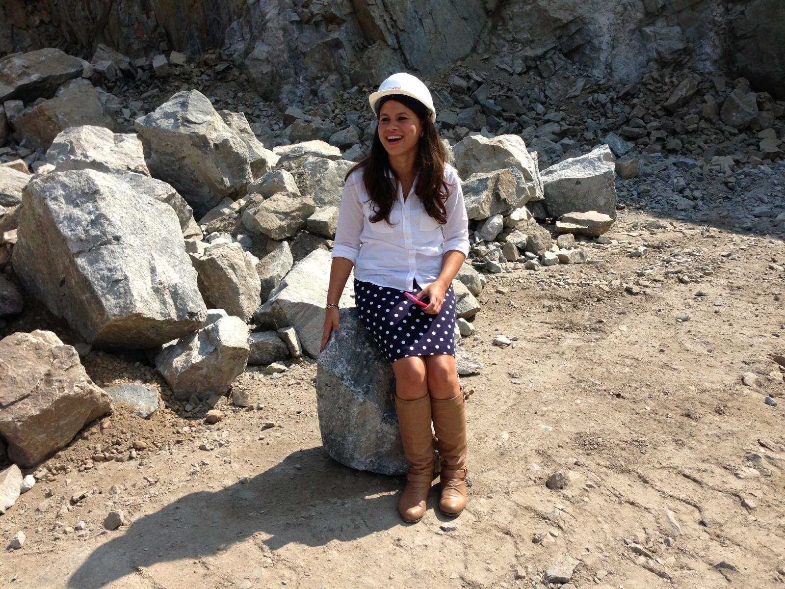 Diana is a fan of the granite boulders.