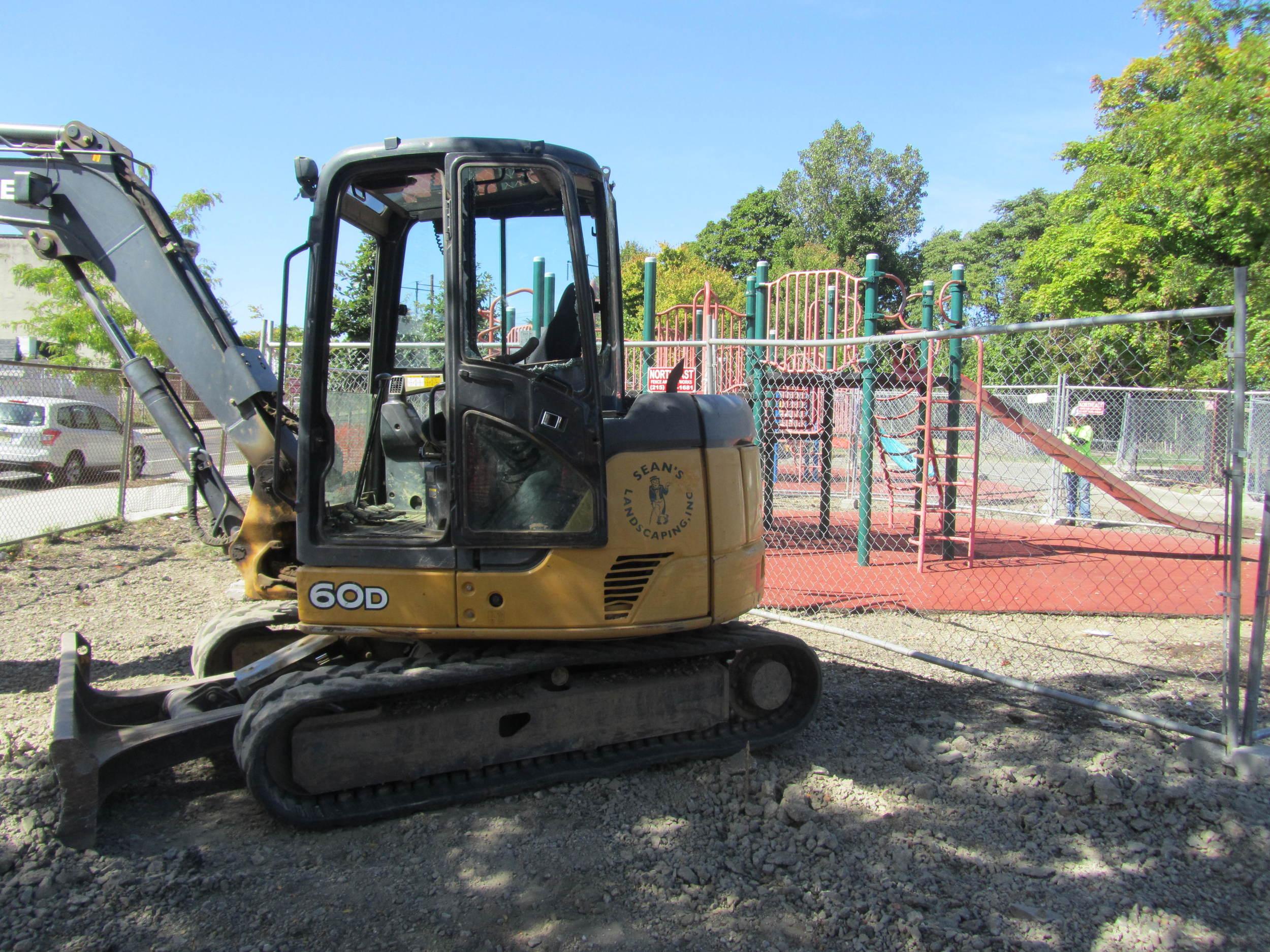Demolition of playground begins.