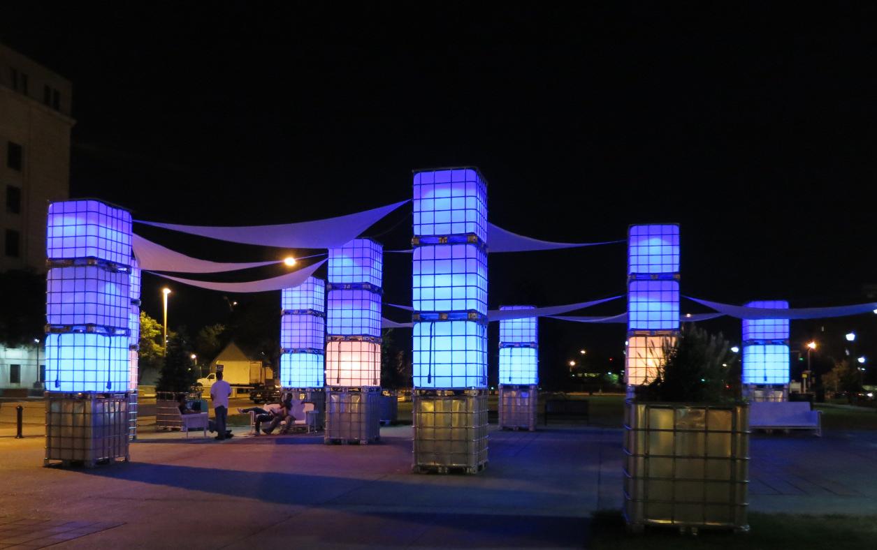 Blue Hour (2014), Camden, NJ. Courtesy of New American Public Art.