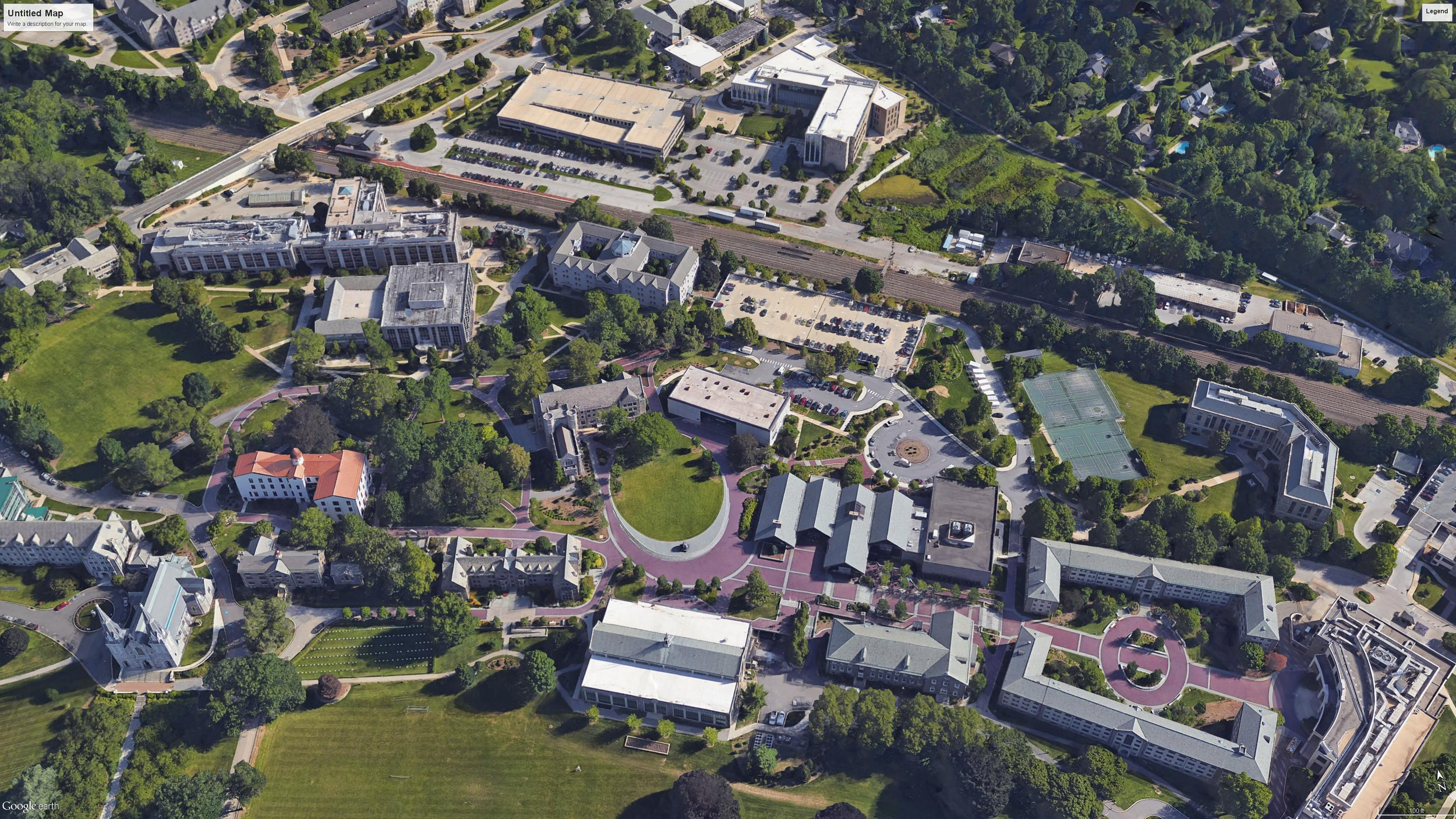 Villanova University Central Campus, Aerial, Photo courtesy