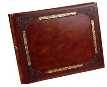 golden_frame_leather_guest_book.jpg