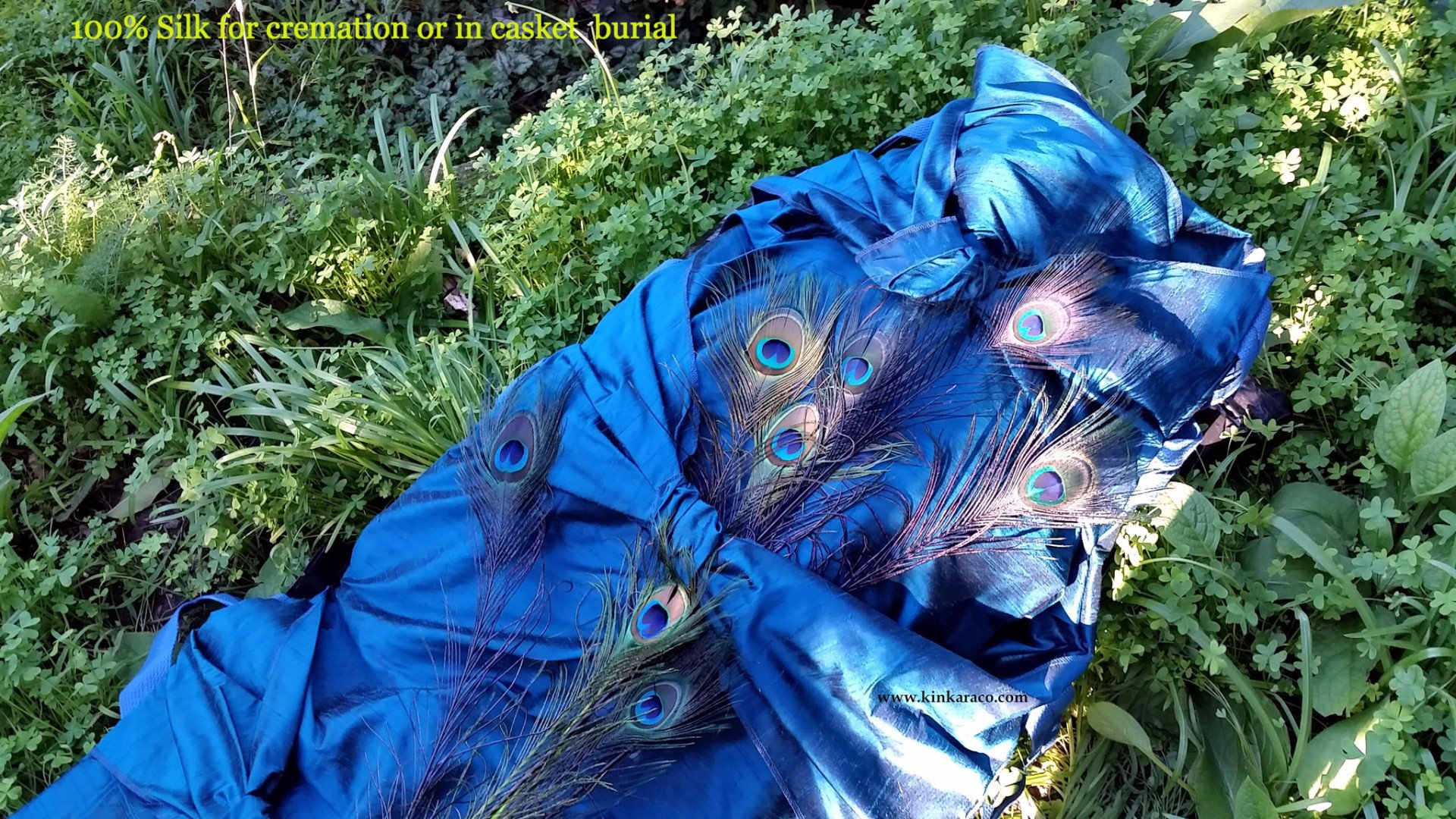 Peacock shroud by Esmerelda Kent of Kinkaraco.com.