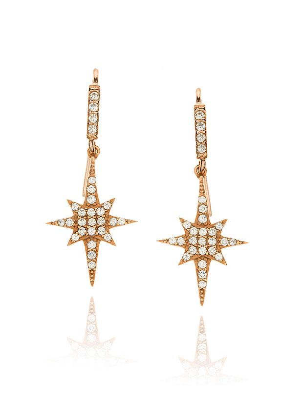 Bright star earrings