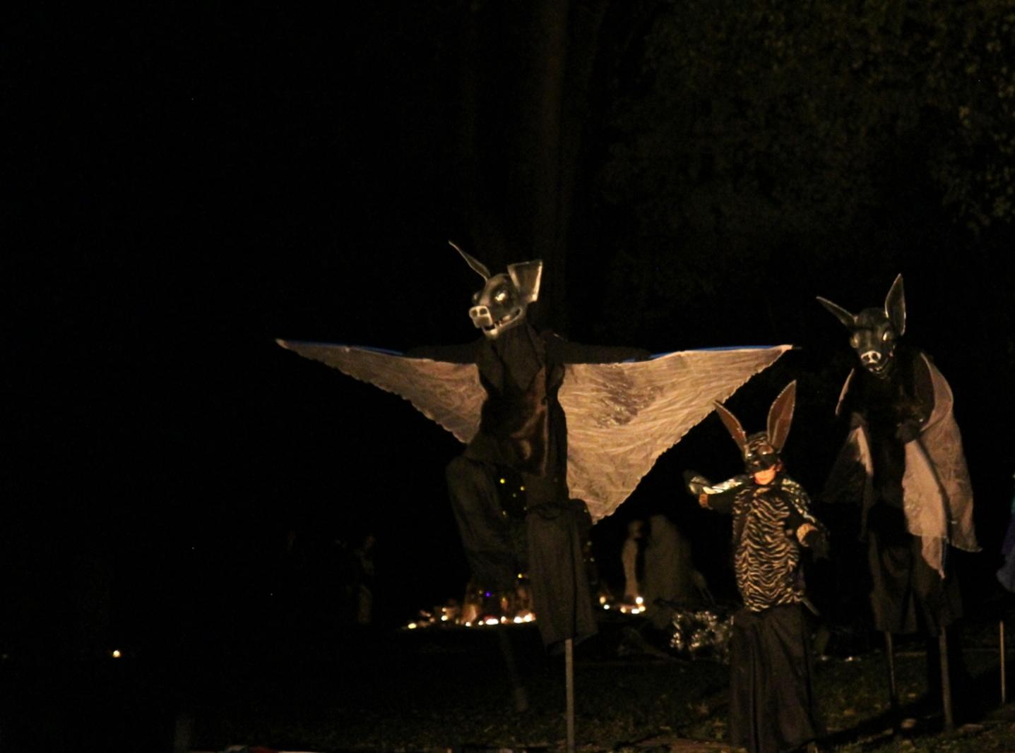Stilted Bat Puppets