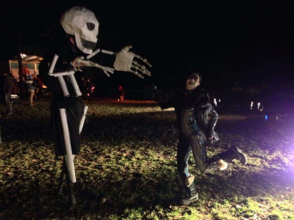 Stilting Skeleton Puppet