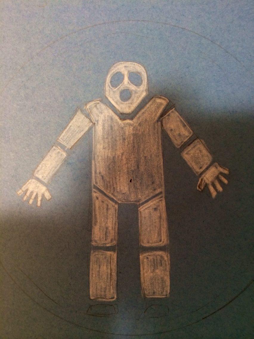 Human Echo Trace Concept Stencil