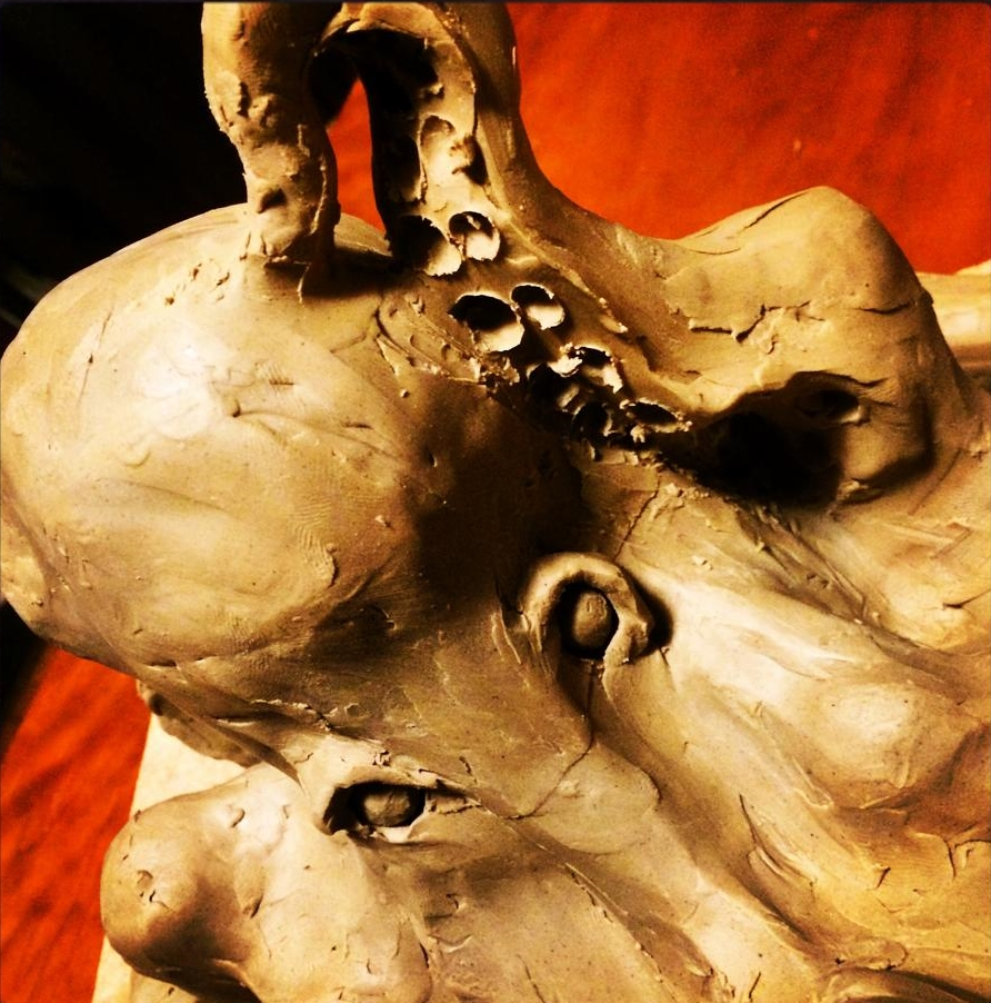 Maquette Detail (Scratching Tentacle)