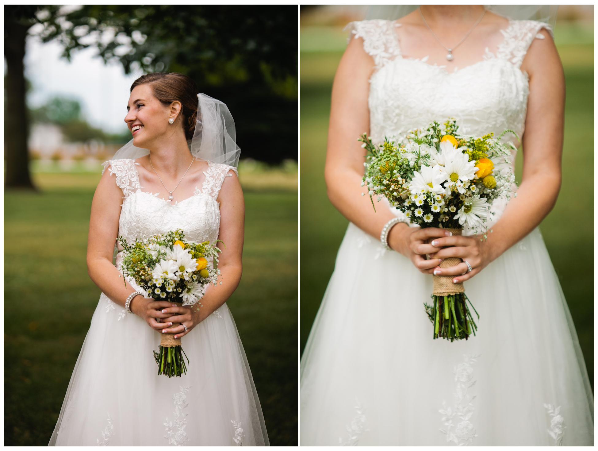 dreamy outdoor wedding photographer Des Moines flowers
