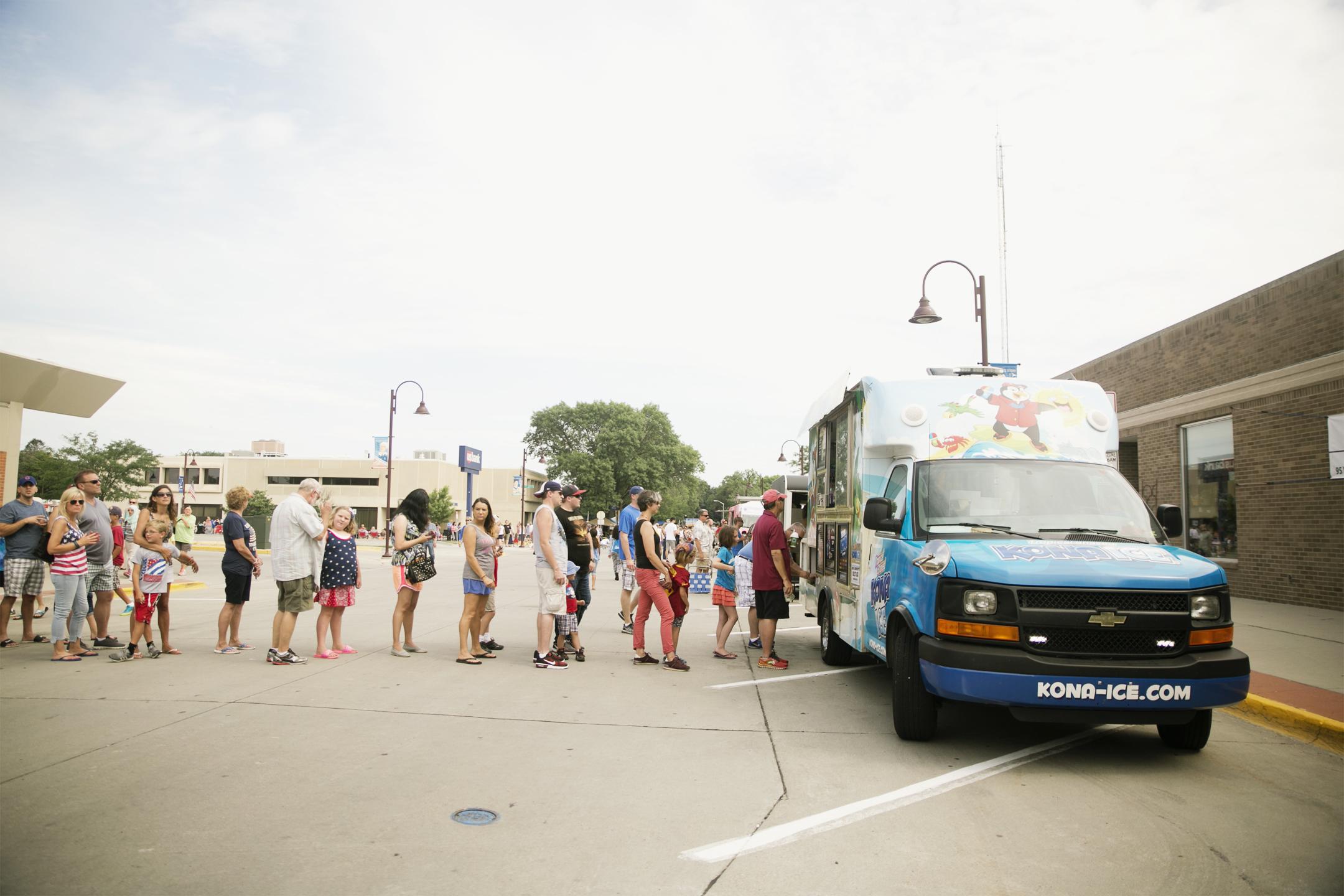 kona ice ames july parade