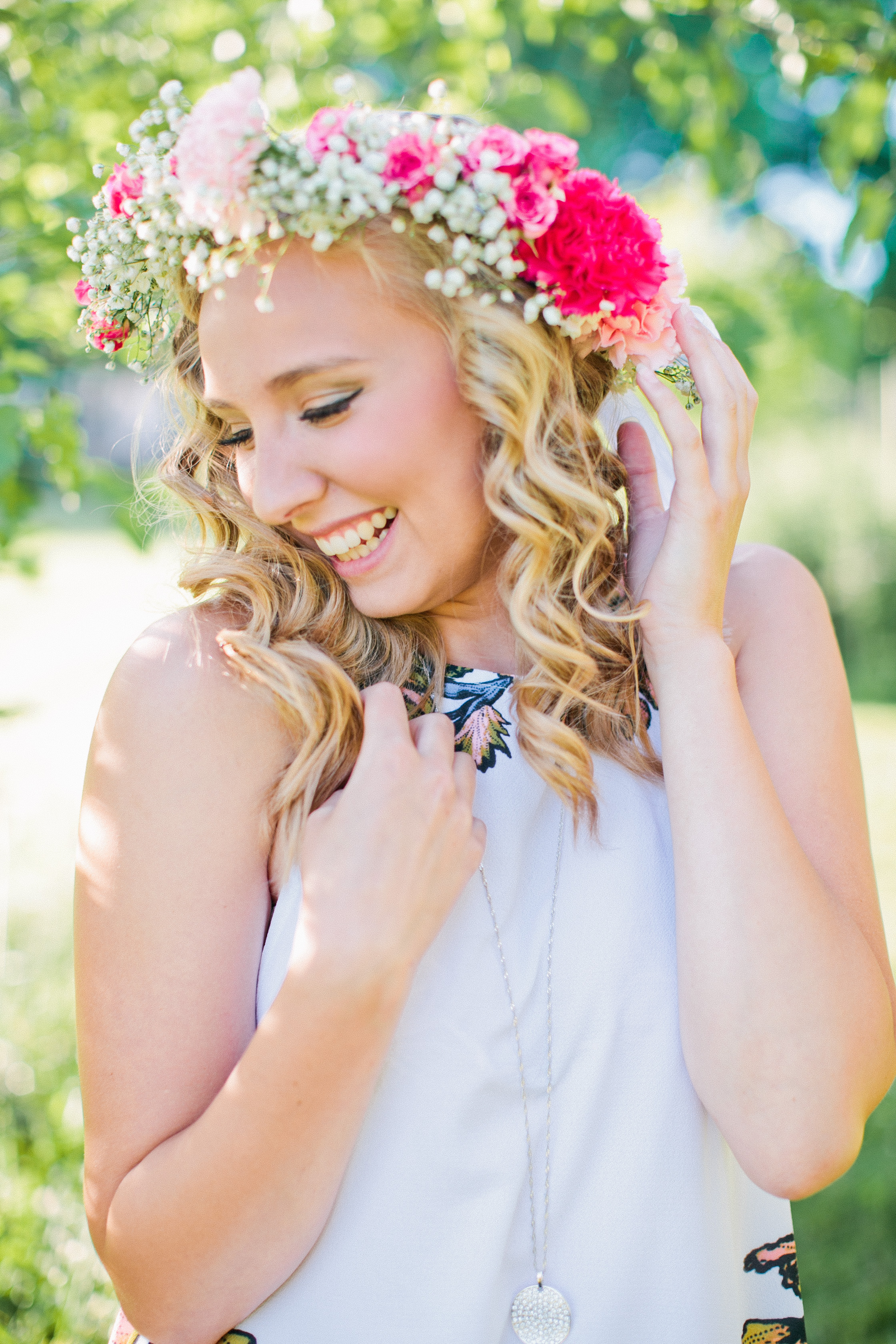flower crown Iowa Des Moines fashion Senior Photography