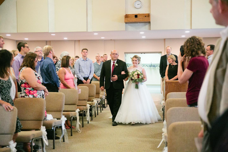 Trinity Bible Church wedding Cedar Falls
