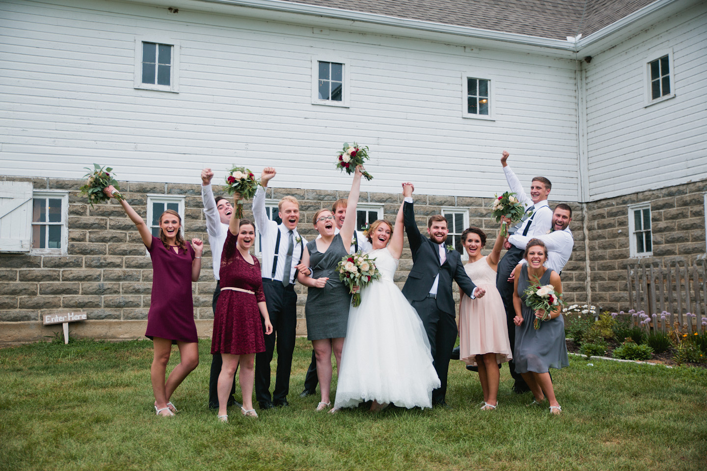 bridal party old fifty-six barn