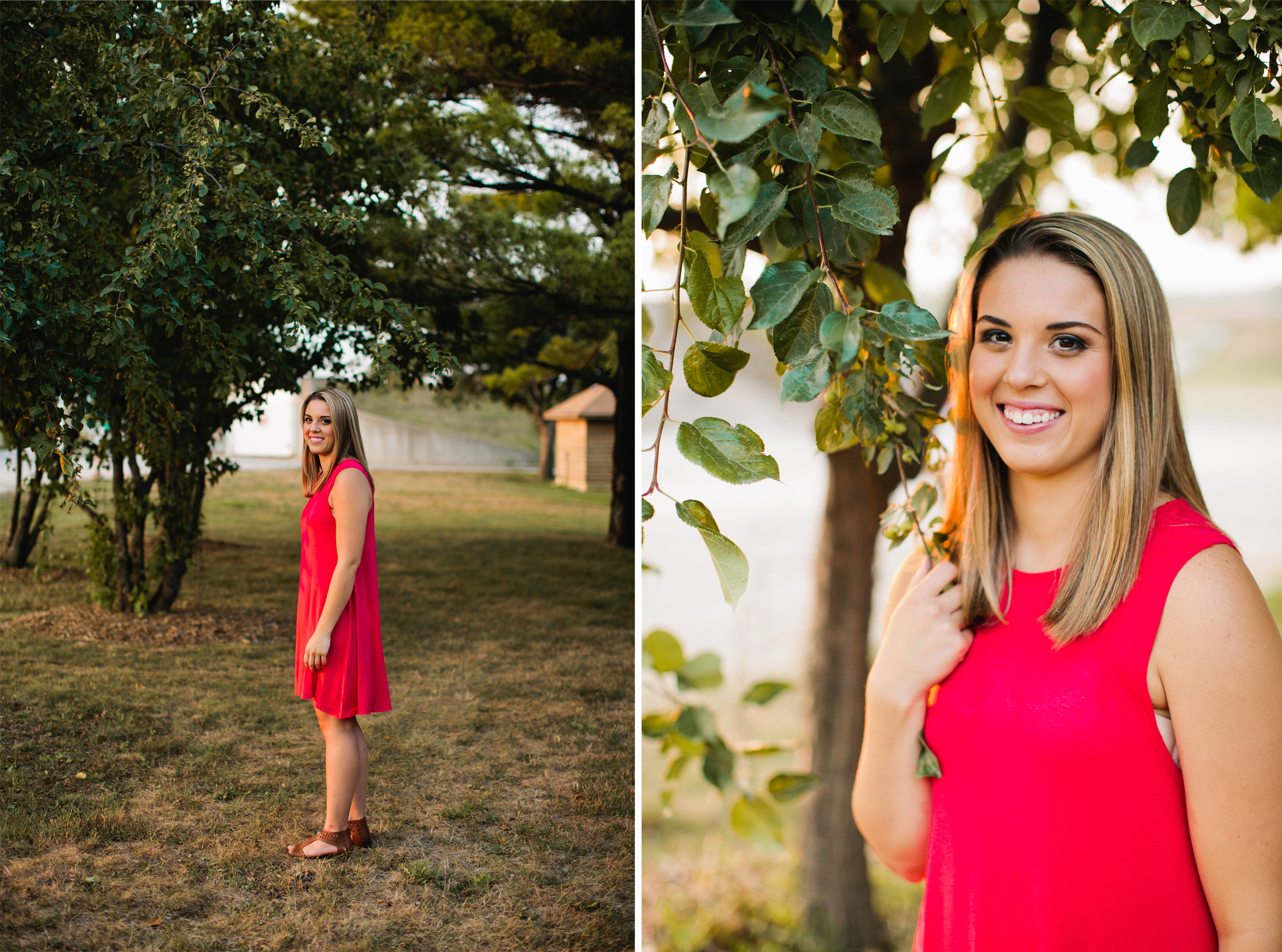 Dubuque outdoor senior photos photographer