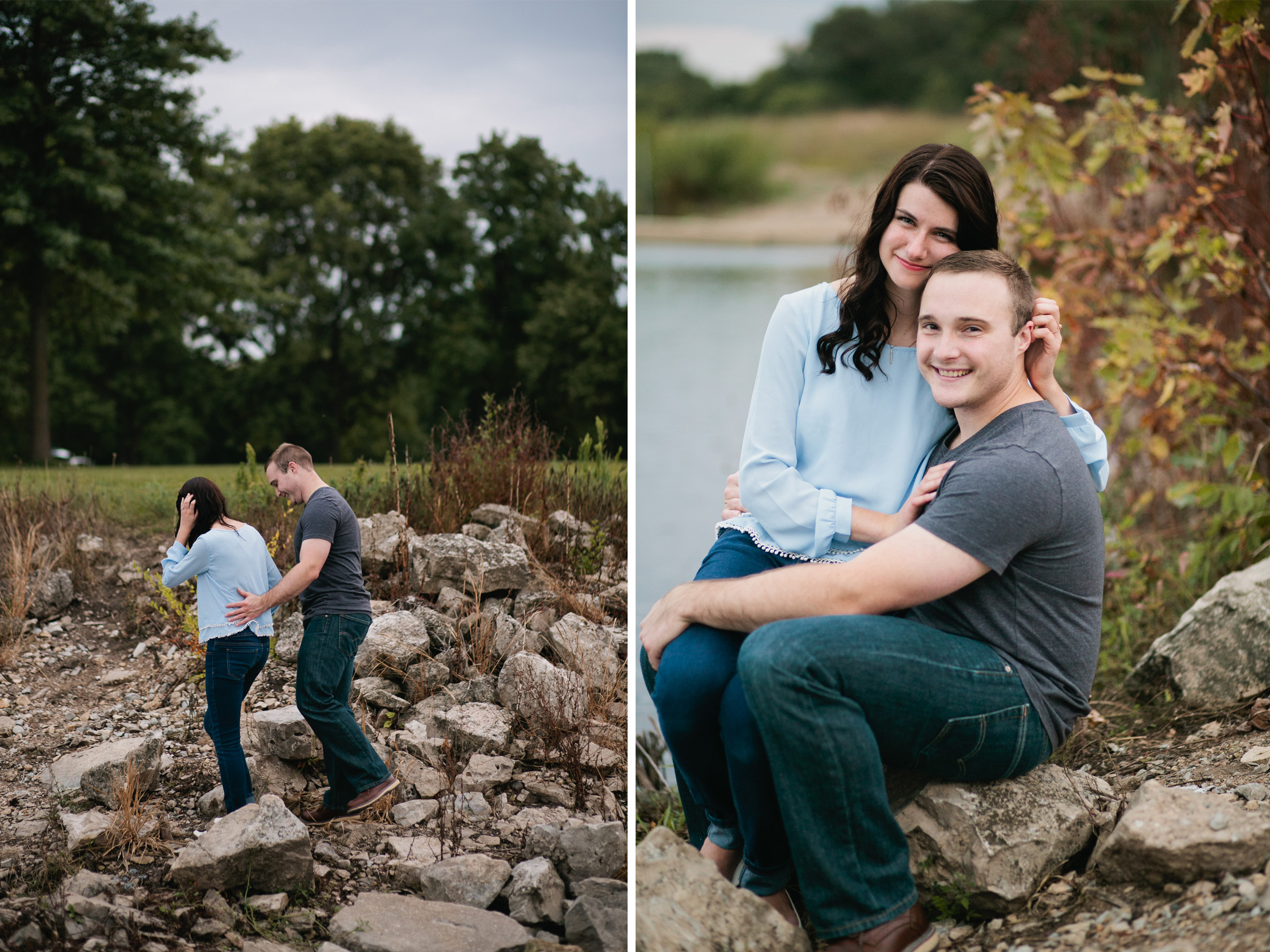 engagement session by the lake