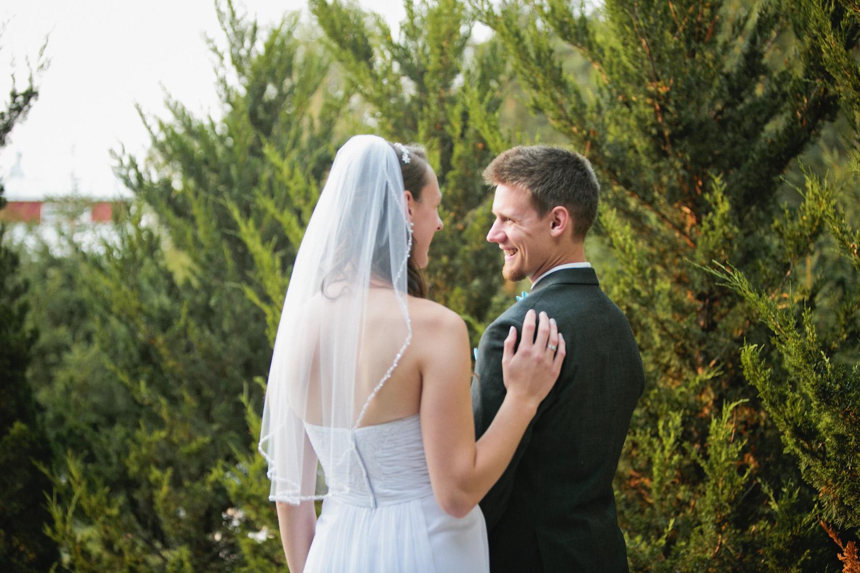 first look celebration farm wedding