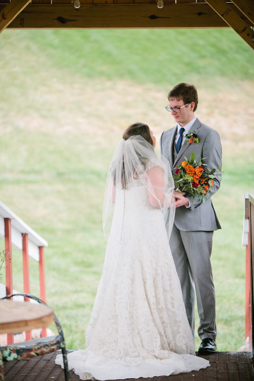 David's Bridal wedding dresses on brides