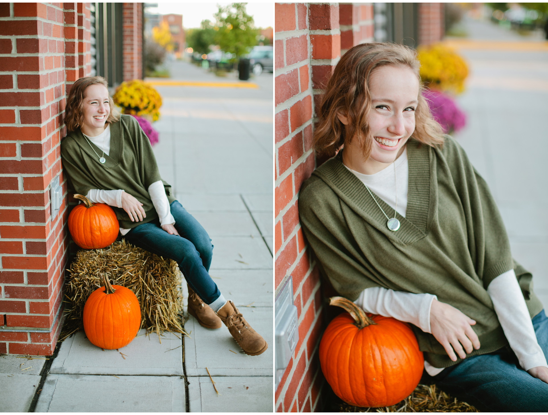 Ankeny senior photos downtown