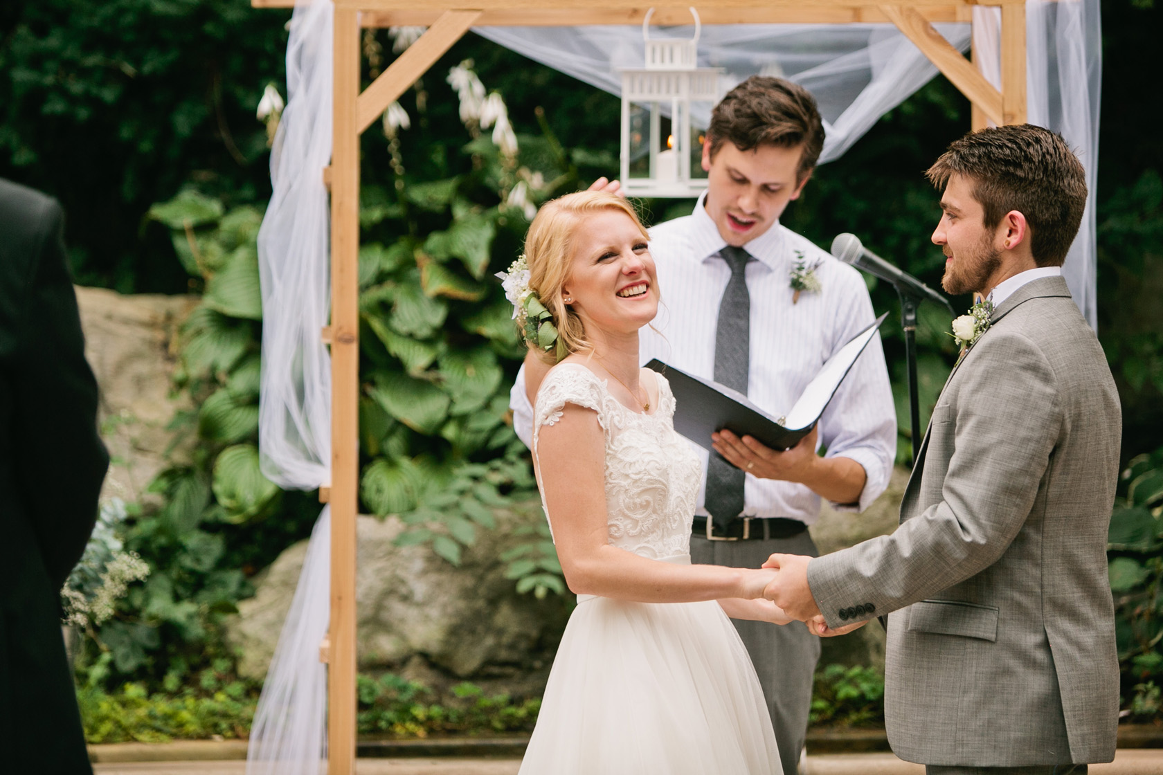 Crystal Lake wedding photographers Chicago Bottanical Gardens