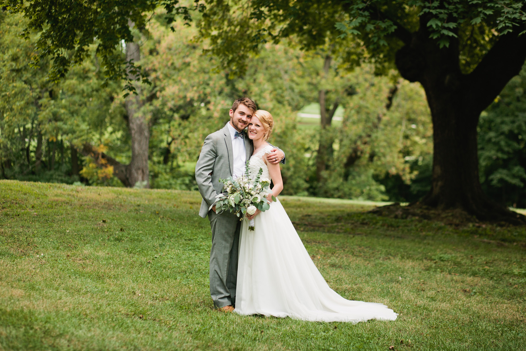 Des Moines water works park wedding photos