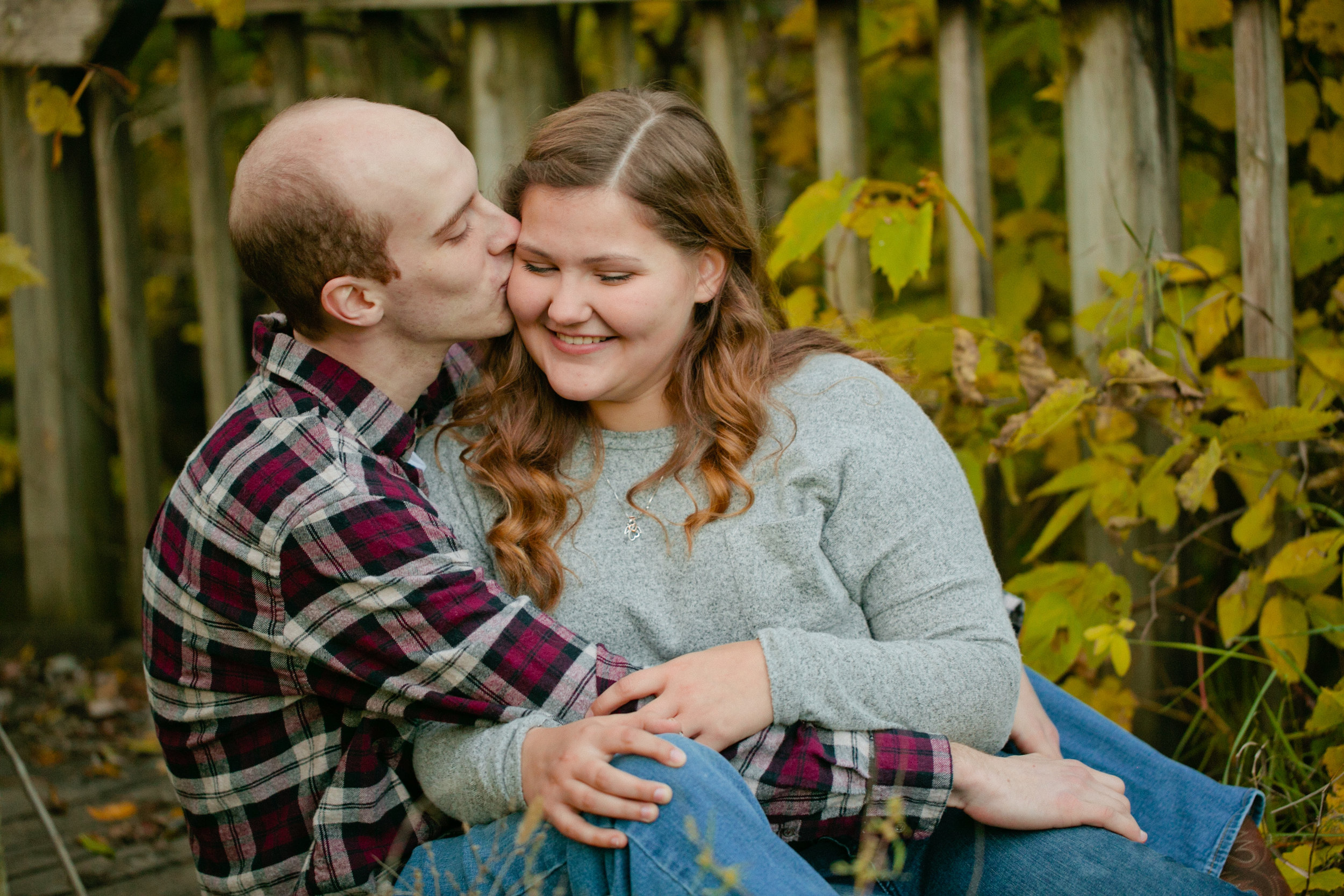 photographing couples in the fall good skin tone in editing