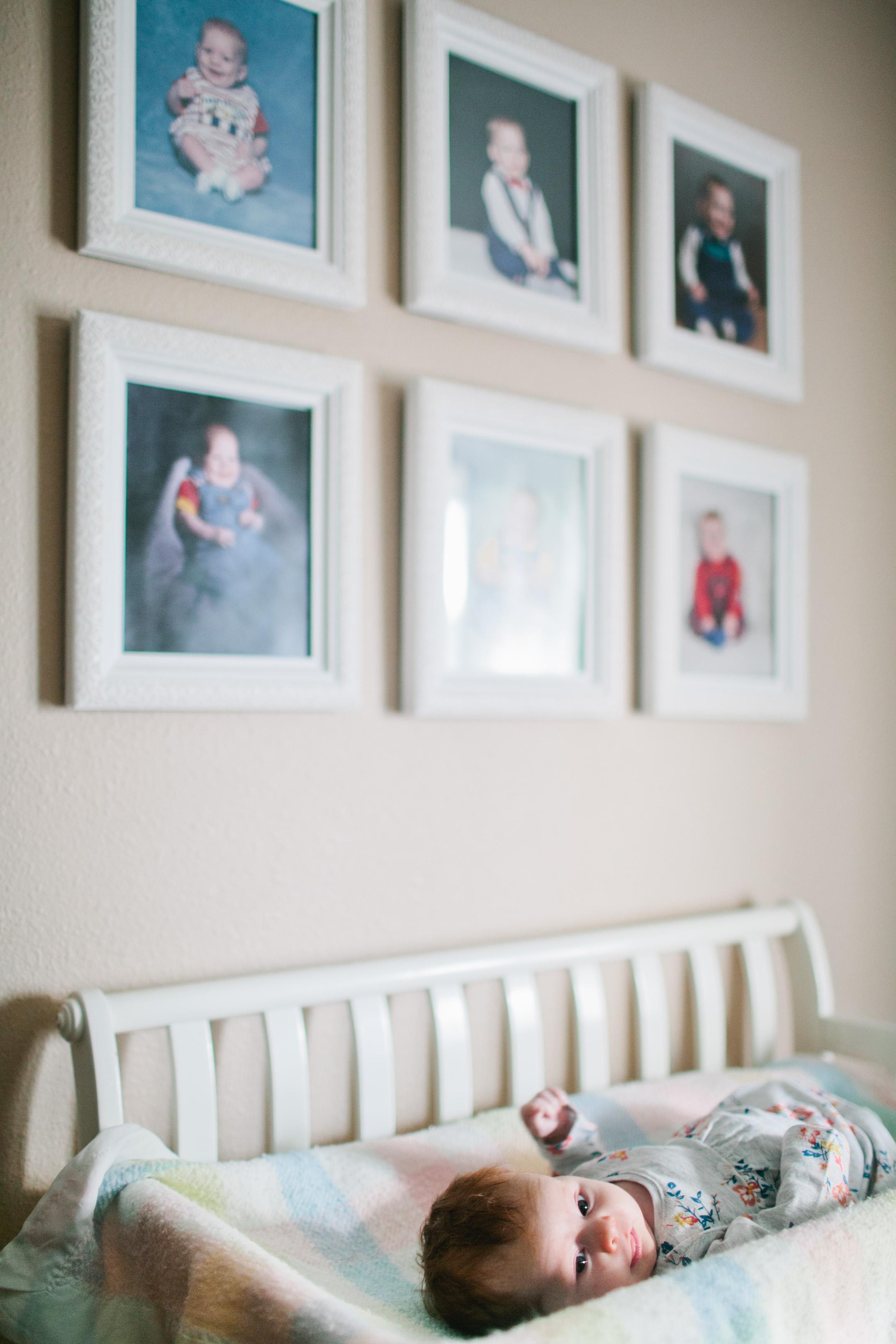 white baby crib and nursery