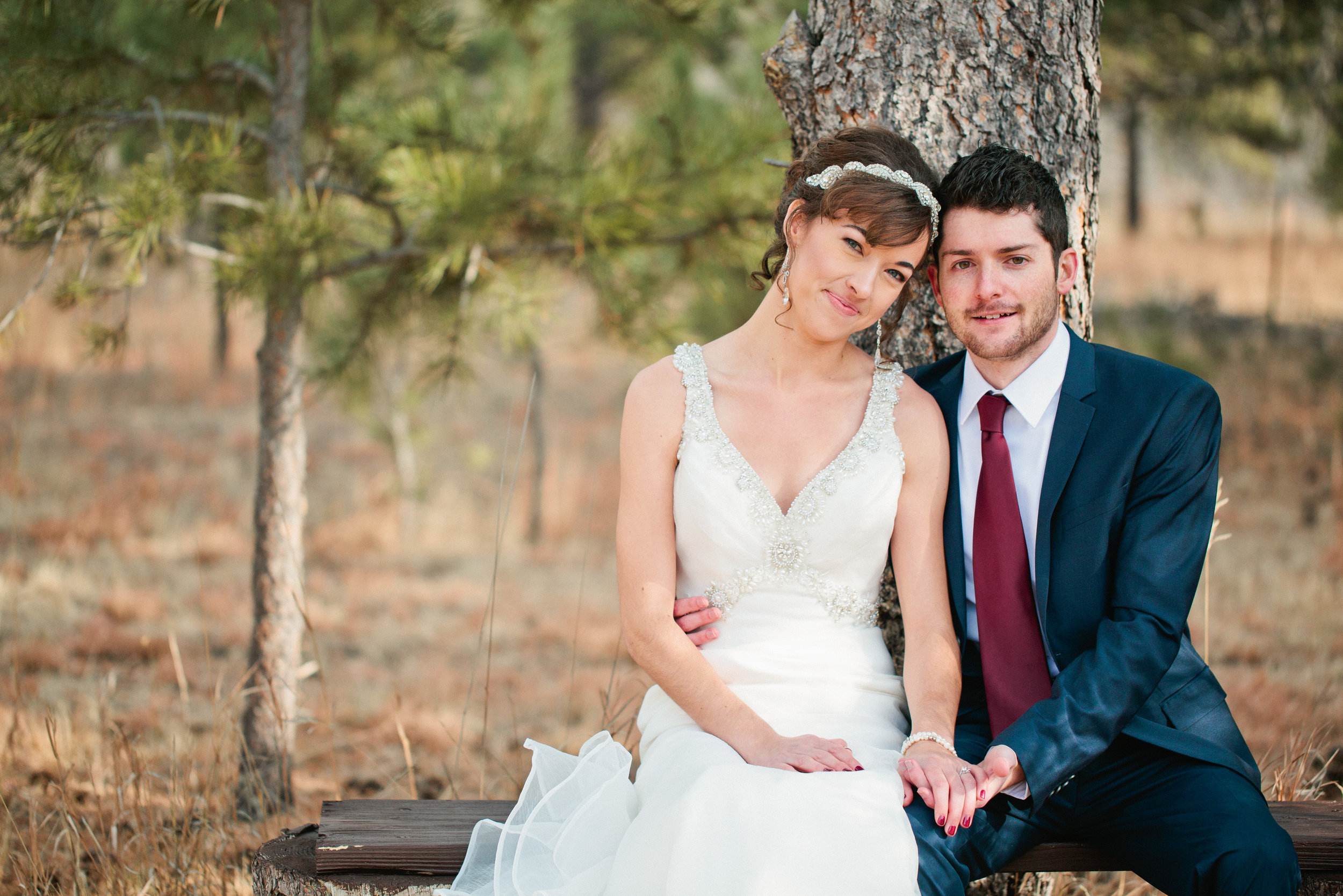 elegant winter wedding photography in colorado springs