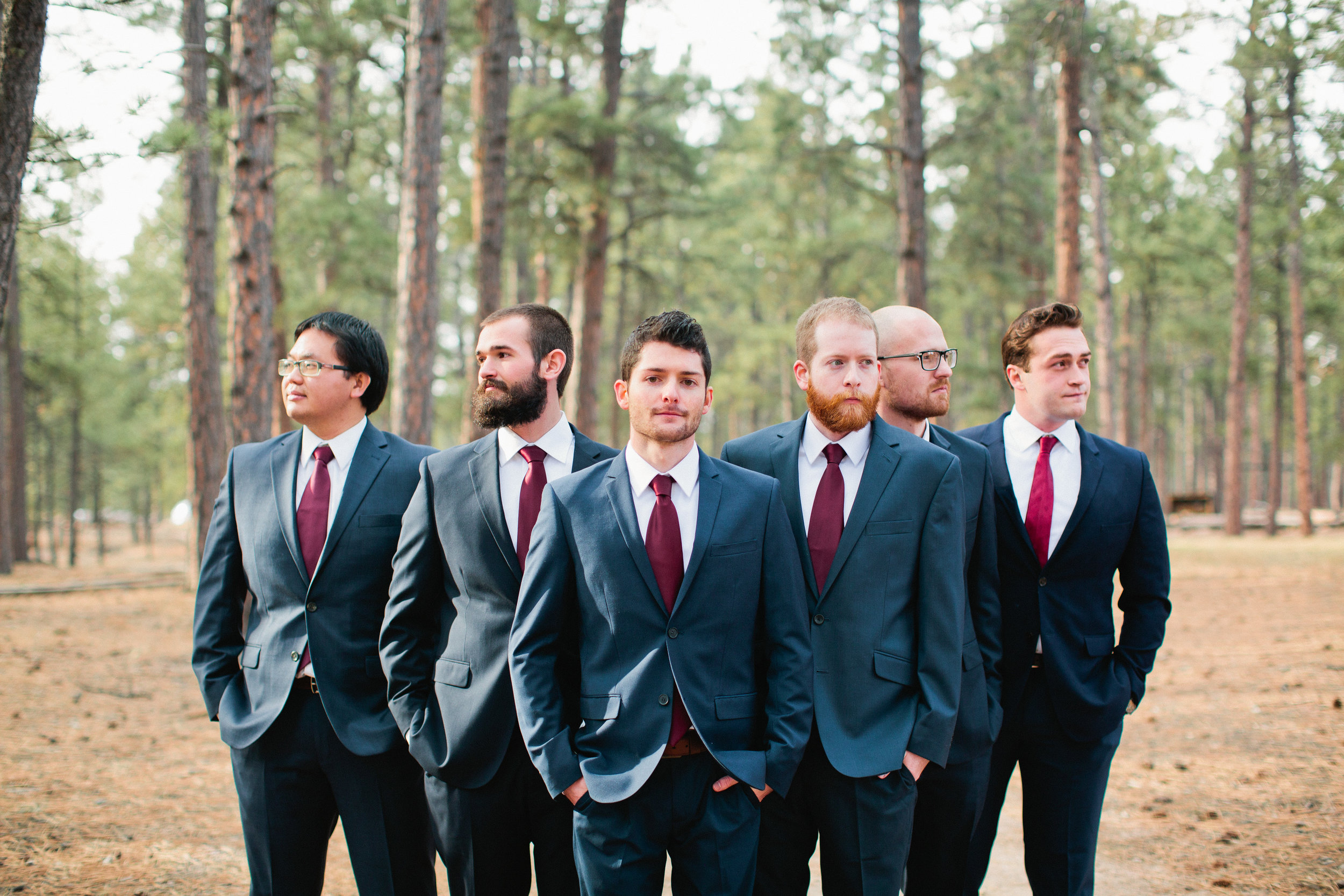 fun groomsmen wedding photos