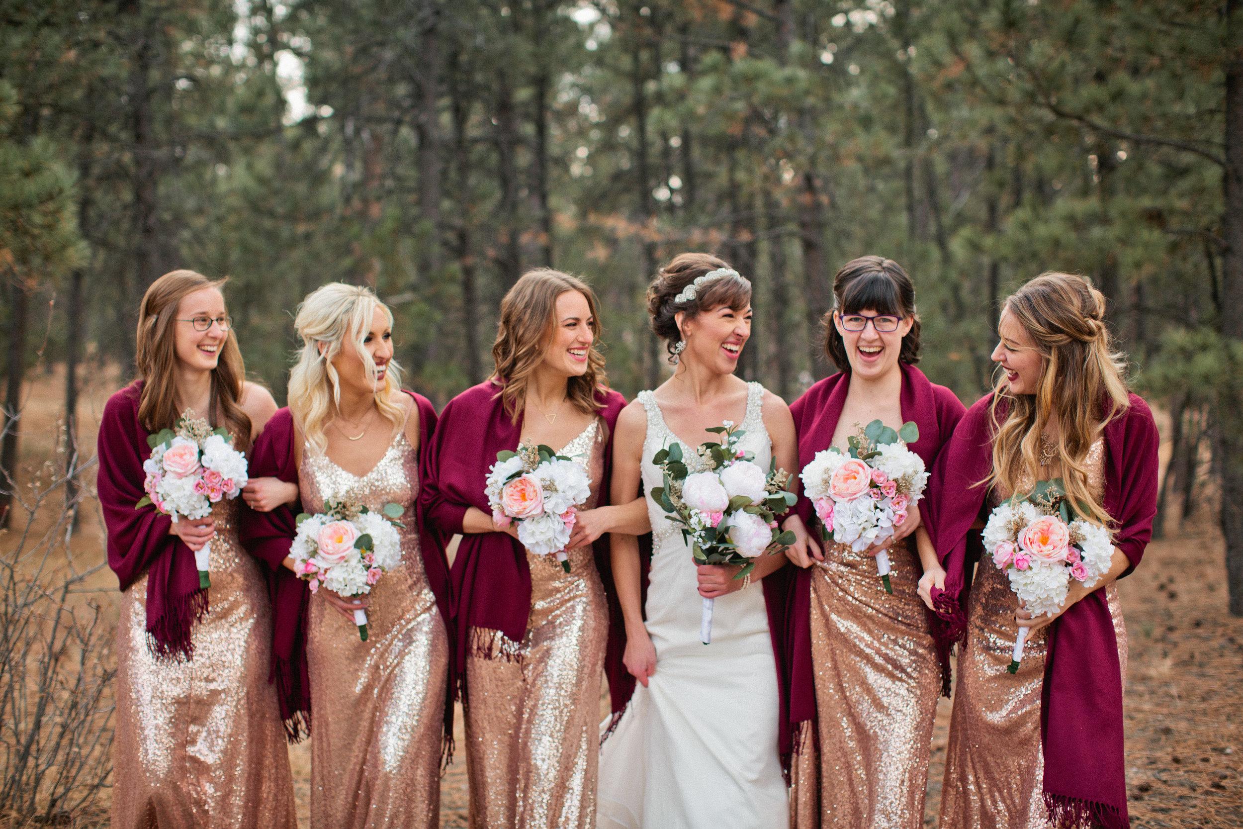 i love the sister of the bride's purple glasses!