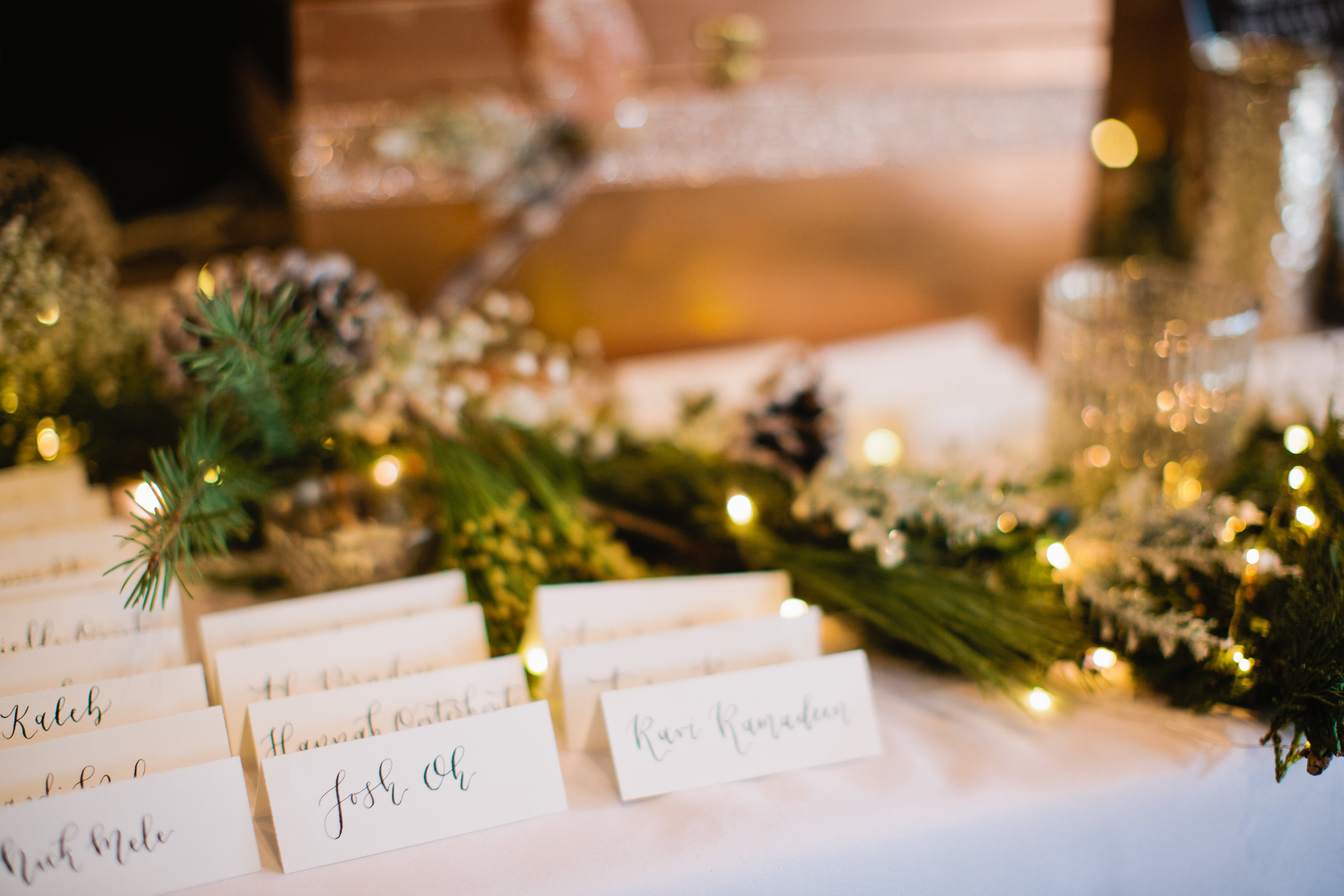 calligraphy for wedding placecards