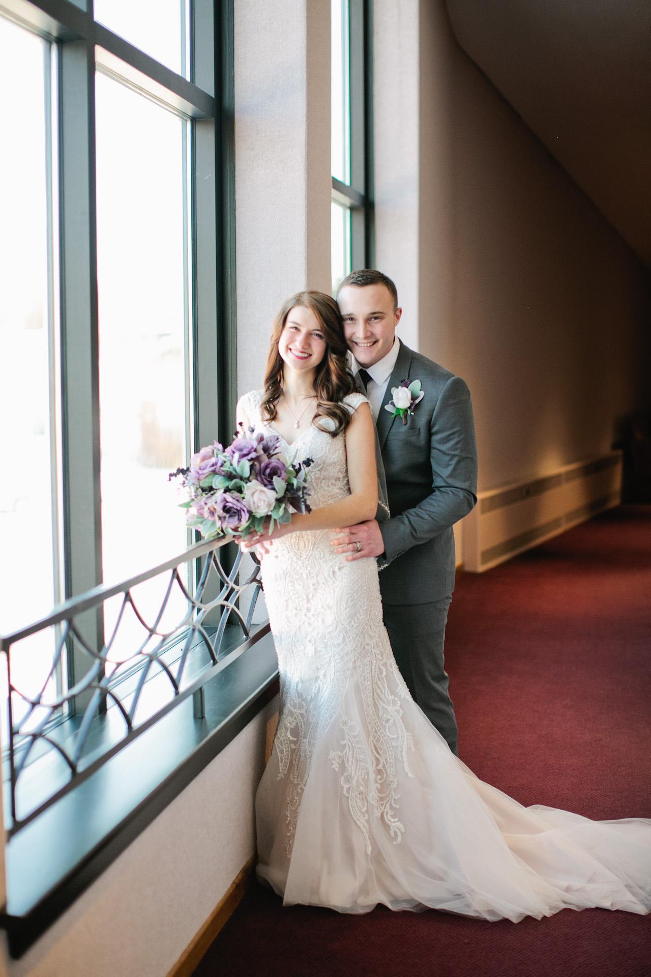 indoor winter wedding photography