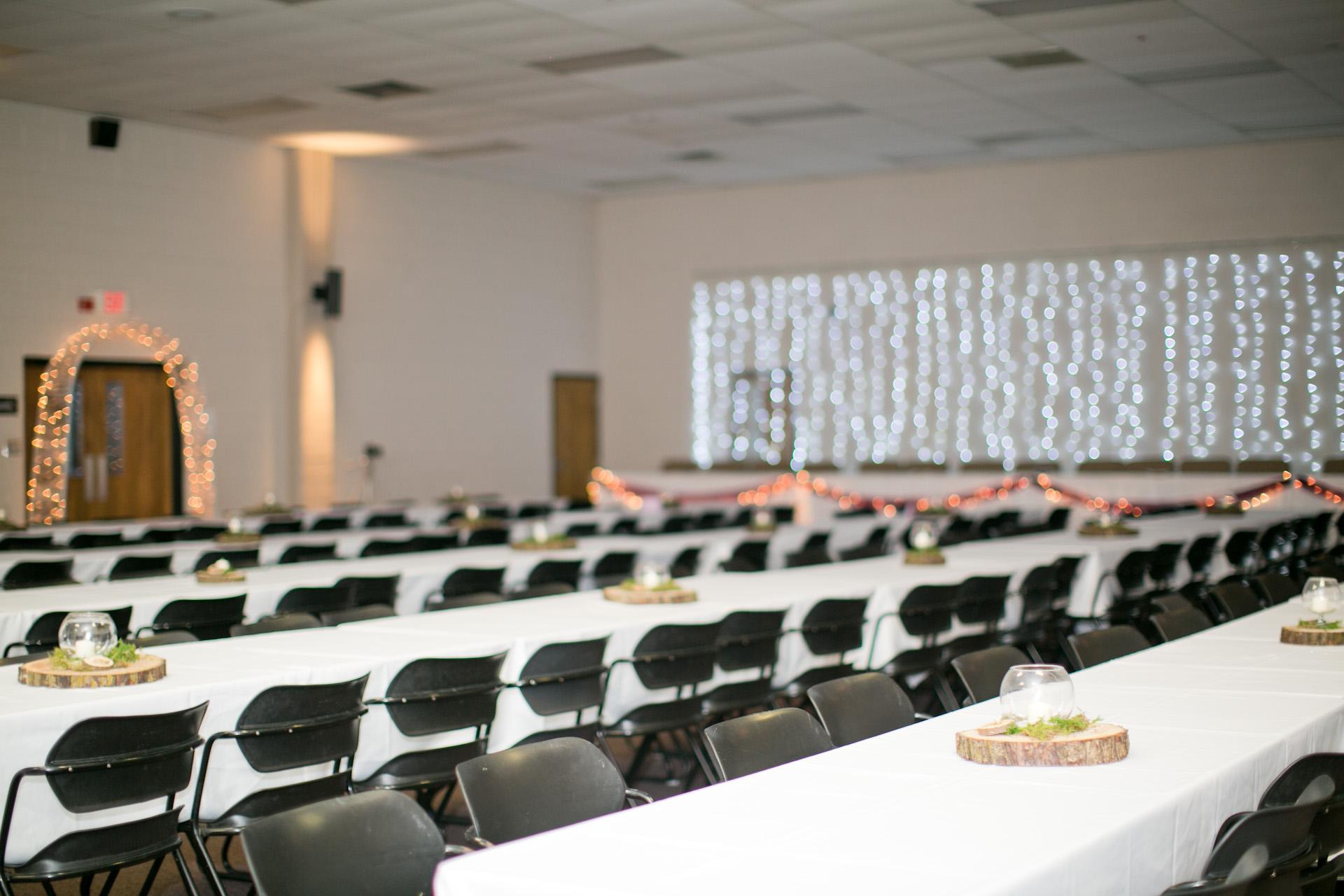 Walnut Ridge Baptist Church fellowship hall wedding reception