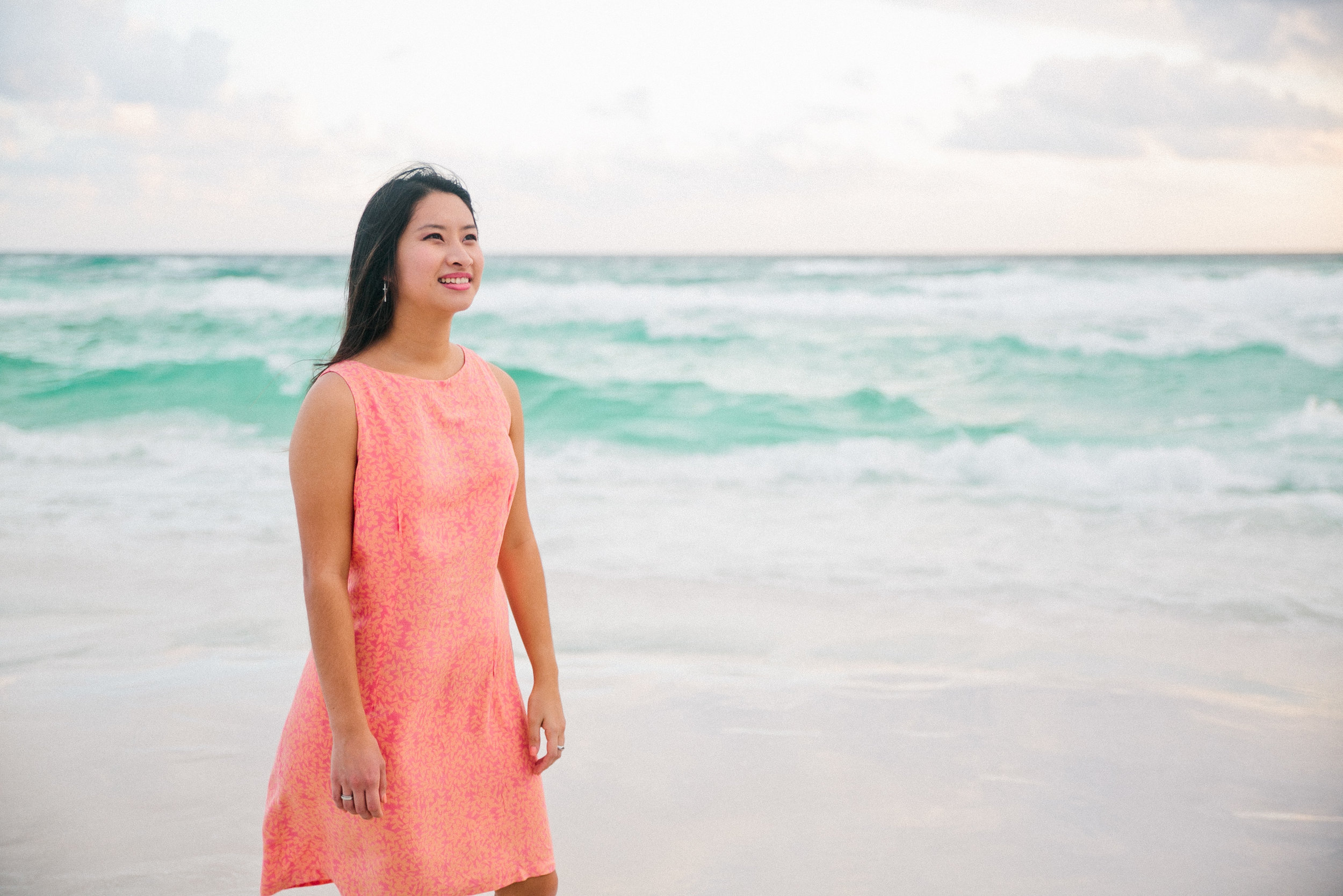 We took photos for Serene's new album at the Sandestin Resort beach in Destin, Florida. A storm was just about to roll through, so the waves were extra choppy (and colorful!).