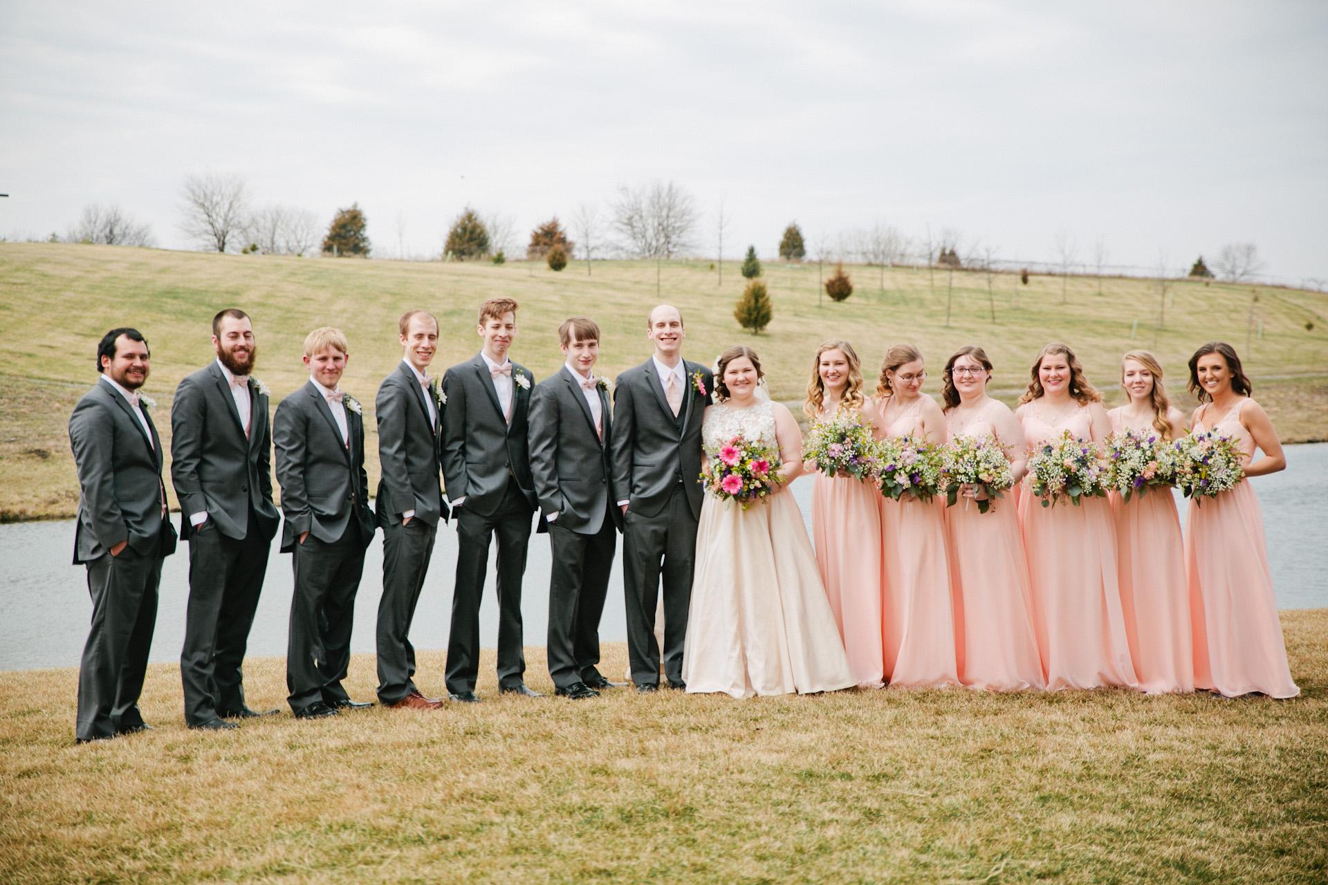 full bridal party photos
