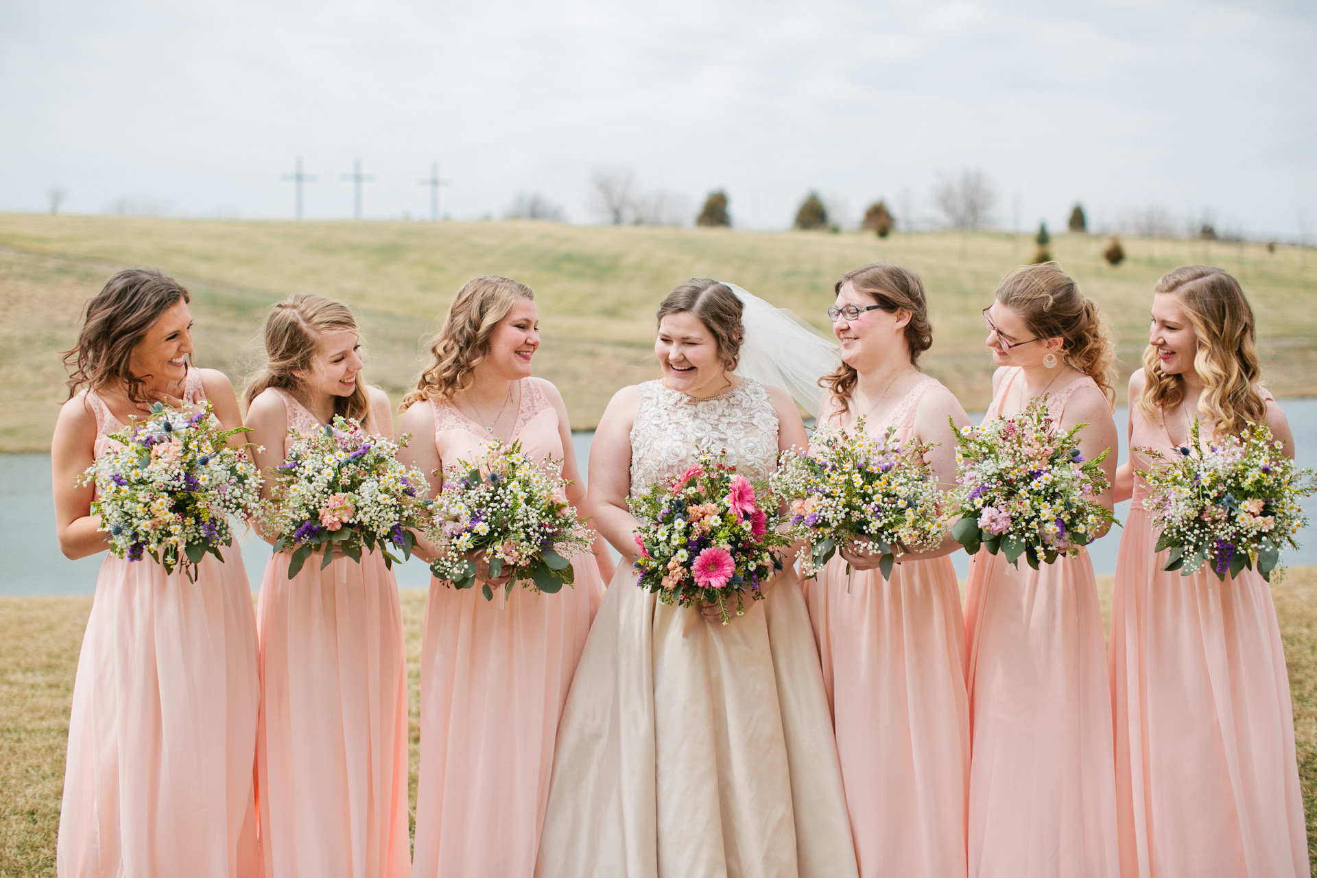 wedding with 6 bridesmaids and 6 groomsment