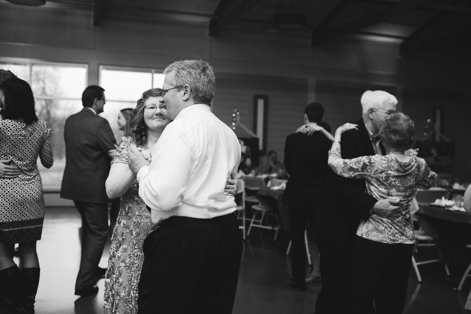 mom and dad dancing at wedding