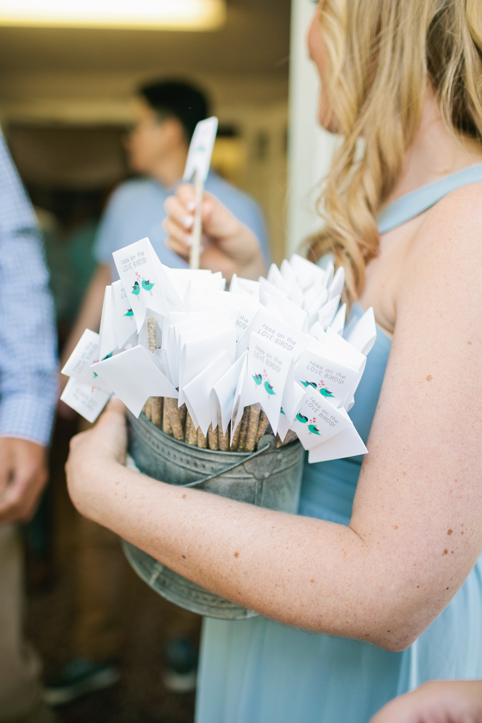 cute wedding birdseed favors