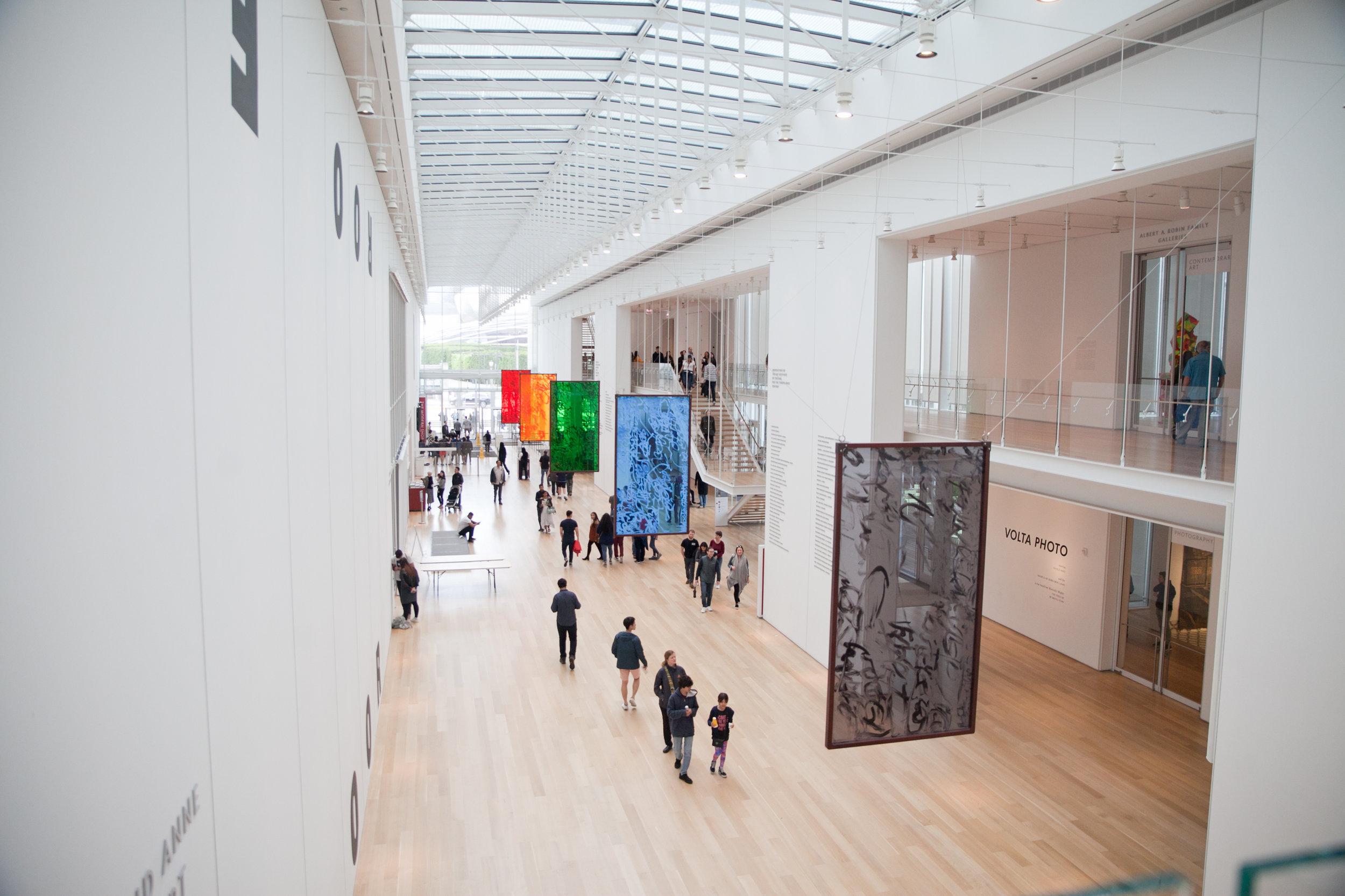 interior shot of the chicago art museum