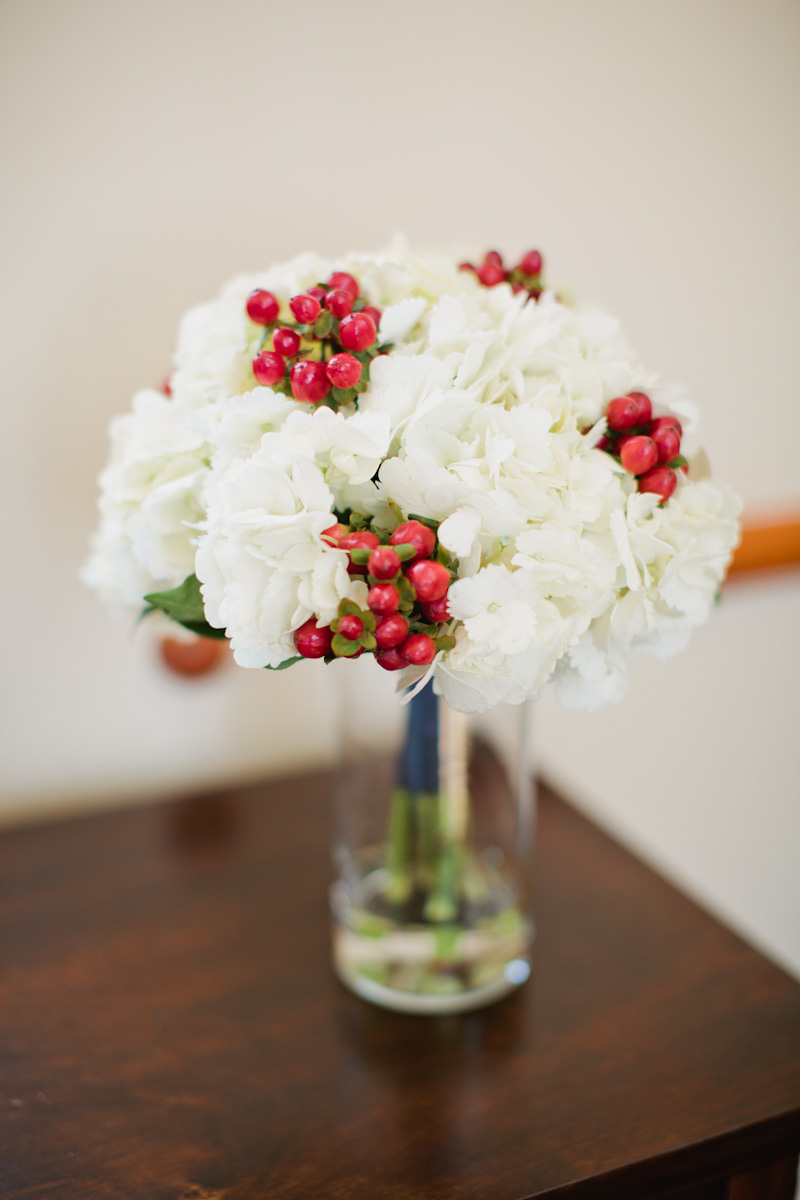 red white and blue wedding flowers boquet